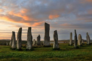 Callanish stone circle at dawn