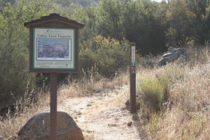 End of the Rockwall trail, beginning of Fox Canyon, facing East