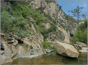 Bedrock pools of Gaviota Creek